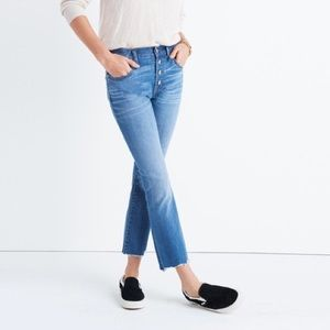 Madewell Cali Demi-Boot Jeans Deconstructed-Hem
